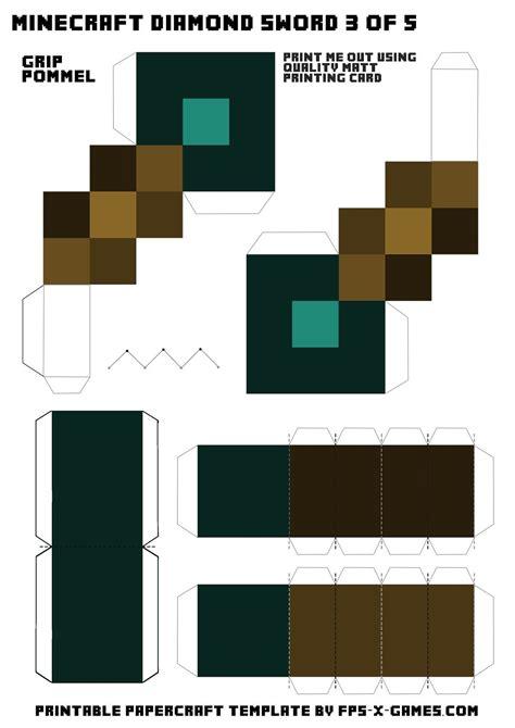 minecraft diamond sword template    minecraft