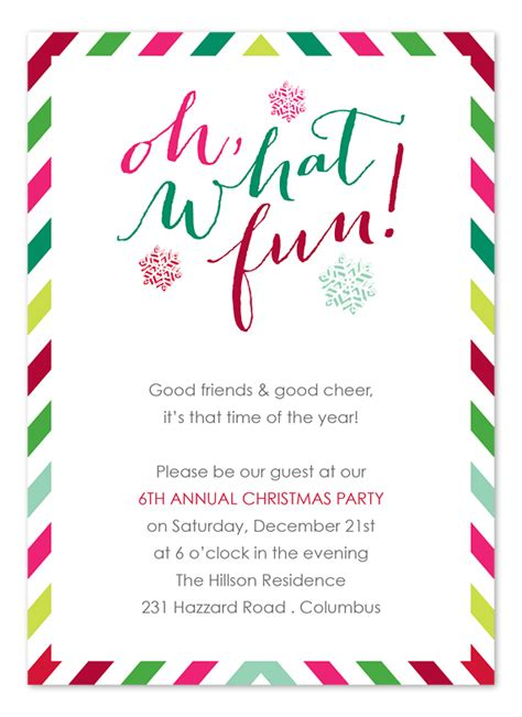 Festive Fun Holiday Invitations by Invitation