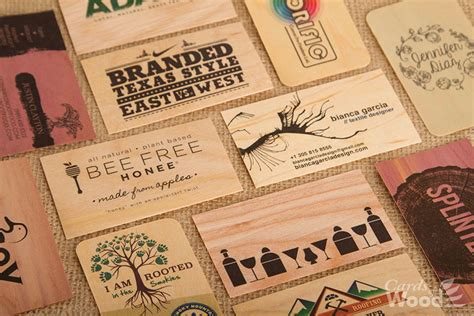 wood business cards wedding invitations cards  wood