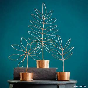 Copper Wire Leaf Decor