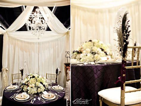 wedding decor purple and silver 2012 seattle wedding show recap washington athletic club purple and silver wedding decor