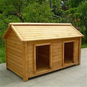 New wooden indoor outdoor dog house pet animal 2 two story for Large double dog house