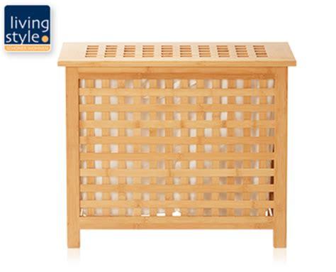 living style bambus waeschebox von aldi sued ansehen