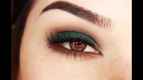 smokey eyes  green  browns makeup tutorial youtube