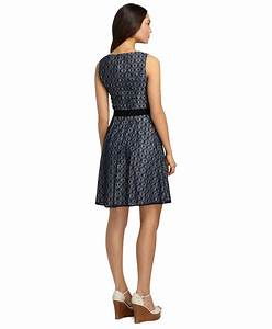 Brooks Brothers Petite Sleeveless Lace Dress in Blue (Navy ...