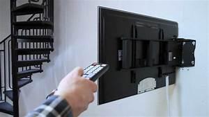 Tv Wandhalterung Samsung : elektrisch schwenkbare wandhalterung f r flachbildschirme ~ Watch28wear.com Haus und Dekorationen