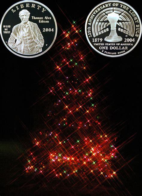 edison christmas tree lights christmas lights thomas edison commemorative silver