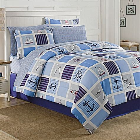 nautical quilt sets nautical patchwork 6 comforter set in navy bed