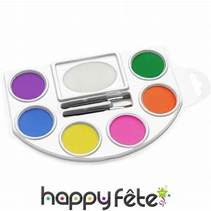 Maquillage Fluo Visage : palette de maquillage fluo visage et corps ~ Farleysfitness.com Idées de Décoration