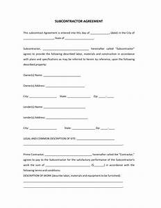 subcontractor agreement template With subcontracting contract template