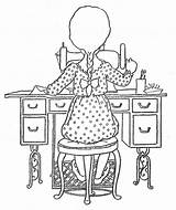 Sewing Coloring Pages Machine Album Holly Embroidery Bonnie Hobbie Quiet Hand Patterns Adults Picasa Hh Jones Colouring Web Google Designs sketch template