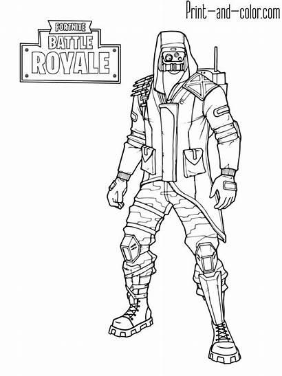 Fortnite Coloring Battle Royale Skins Skin Outfit