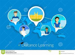 Distance learning stock vector. Image of infographics ...