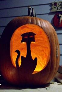 Tete De Citrouille Pour Halloween : modele citrouille halloween chat ~ Melissatoandfro.com Idées de Décoration