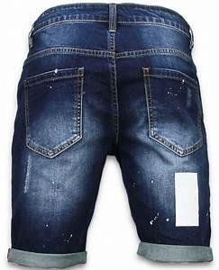 Kurze Latzhose Herren : enos kurze hosen herren slim fit vintage torn look shorts blau ~ Orissabook.com Haus und Dekorationen