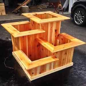 multi tiered cedar planter cedar rectangular planter box