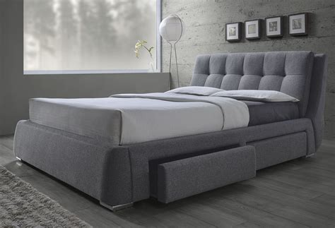 bed for fenbrook gray platform storage bed from coaster