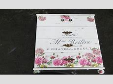 How to Decoupage Furniture a Dresser French Script flowers