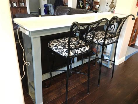 diy sofa table with outlet behind the couch table with outlet finding the best