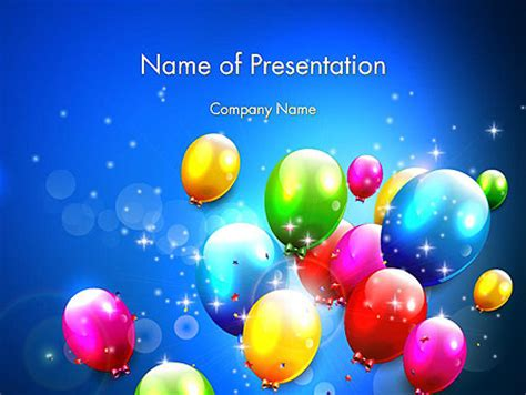 letterheads template free colorful birthday party balloons powerpoint template