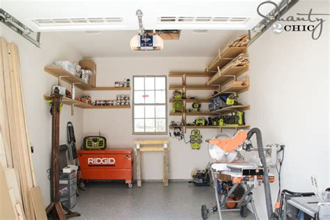 Super Easy Diy Garage Shelves  Shanty 2 Chic