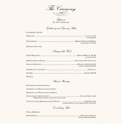 7 wedding reception program templates psd vector eps ai illustrator free