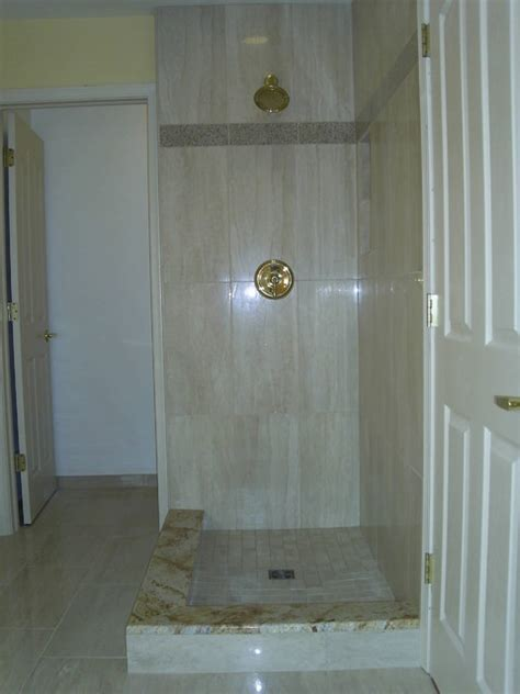 12x24 porcelain shower detroit by maloney tile