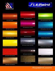 Metallic Car Paint Color Chart