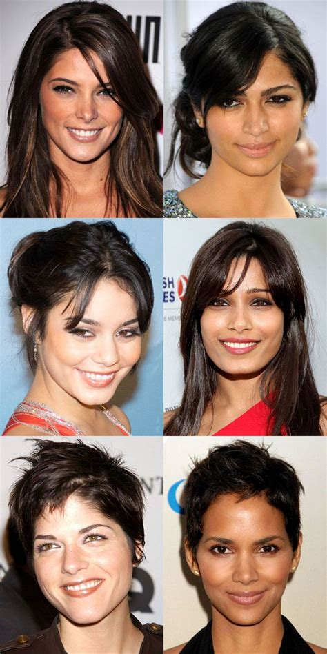 worst bangs  diamond faces face shapes