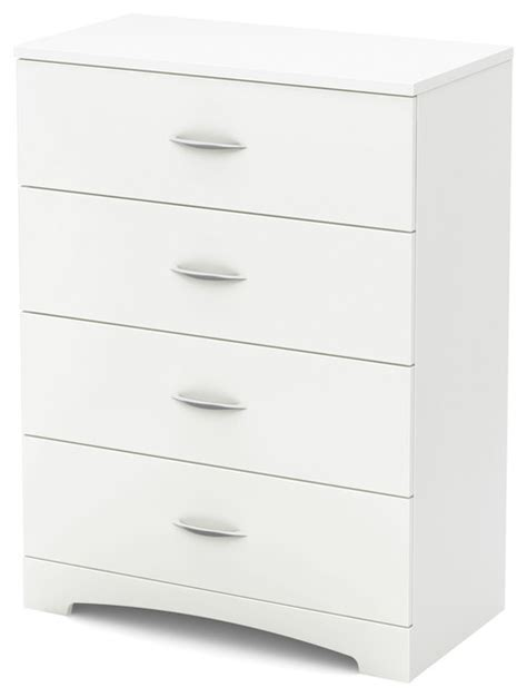 south shore step one dresser white south shore step one 4 drawer chest transitional