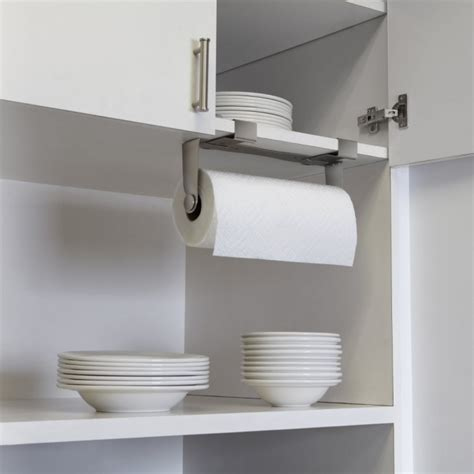 Paper Towel Cabinet Mount by Umbra Mountie Cabinet Mounted Paper Towel Holder Nickel