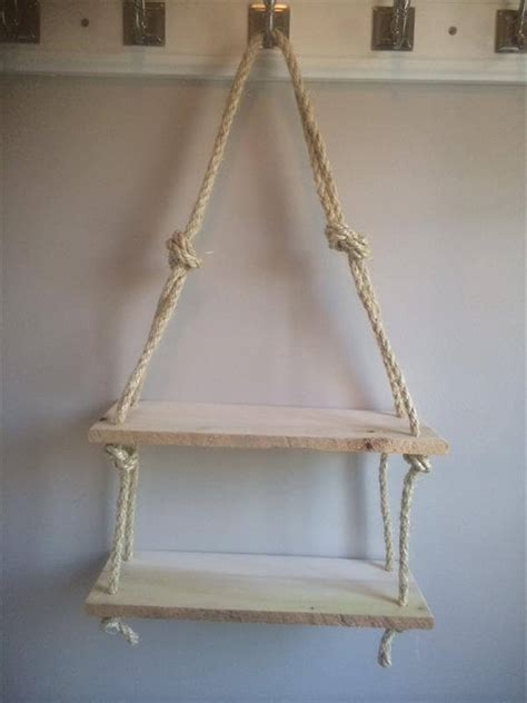 diy recycled pallet rope shelves  pallets