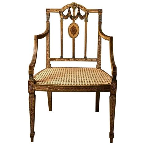 king george iii painted desk chair in the sheraton manner