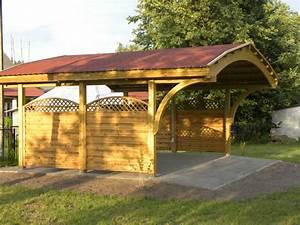 Carport 2 Voitures Bois : abri voiture bois carport 1 2 3 4 voitures en kit garage 2 ~ Dailycaller-alerts.com Idées de Décoration