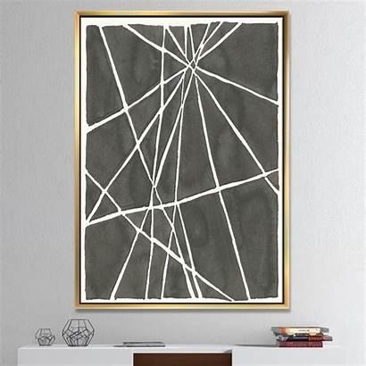 Transitional Minimalist Canvas Framed Graphics Designart Ii