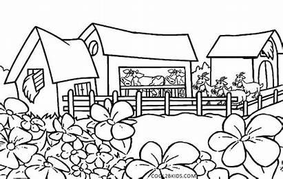 Coloring Nature Pages Printable Kindergarten Scenes Cool2bkids