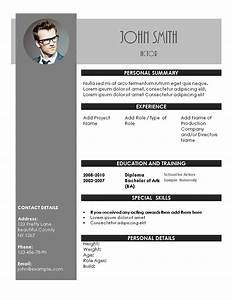 acting resume template With actors cv template free