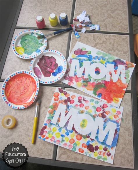 the educators spin on it easy s day craft 628 | Mother%27s Day Paint Resist Art Project