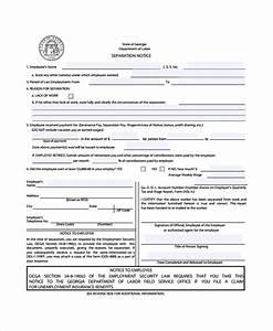 separation notice printable separation notice separation With free sample marriage separation letter