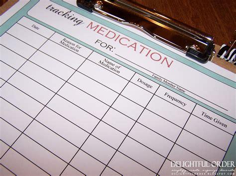 tracking medication chart  printable file instant digital
