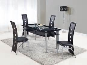kitchen dining furniture extendable rectangular frosted glass top leather modern dining set with leaf new york new york