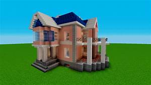 Minecraft: Tutorial How To Build A Simple House (Stained