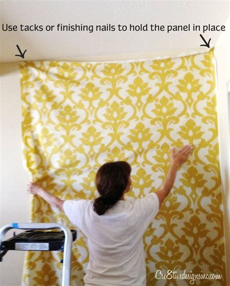 Putting fabric on the wall with starch via Stephanie at