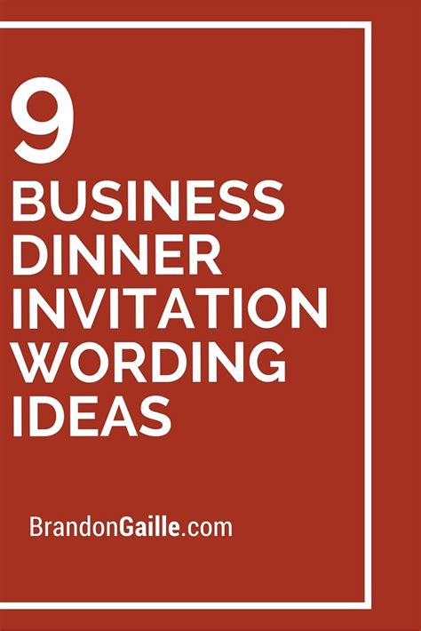 9 Business Dinner Invitation Wording Ideas Dinner