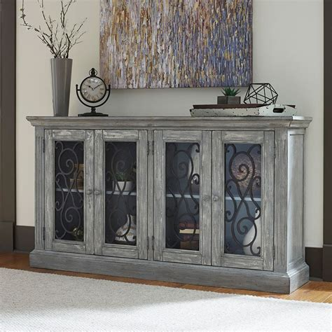 mirimyn antique chipped gray accent cabinet accent