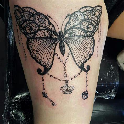 lace butterfly tattoo ideas  pinterest