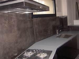 Crédence Béton Ciré : couleur credence cuisine beton cire cr dences cuisine ~ Premium-room.com Idées de Décoration