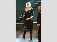 Sarah Connor pregnant in OvertheKnee Boots Pinterest