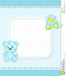 blue teddy bear card stock vector illustration of With baby shower place cards template