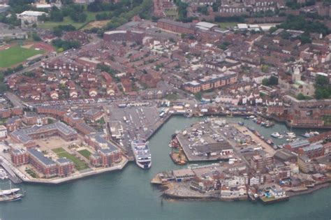 Aerial View Old Portsmouth Colin Babb Cc By Sa